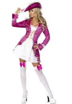 Sexy Halloween Costumes for Women, 2019 Adult Halloween Costume Ideas Sexy Pirate Costume, Costumes Sexy Halloween, Pirate Fancy Dress, Costume Sexy, Pink Costume, Ladies Fancy Dress, Costume Dress, Halloween Clothes, Pirate Halloween