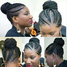 Braiding Weave Hairstyles: Latest Ghana Weaving for Ladies keywords braiding weave hairstyles braids hairstyles 2016 nigerian braids hairstyles braids hairst. African Braids Hairstyles, Weave Hairstyles, Girl Hairstyles, Black Hairstyles, Natural Hair Updo, Natural Hair Styles, Short Hair Styles, Pixie Styles, Natural Beauty