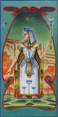La reine de bâtons - Ibis Tarot
