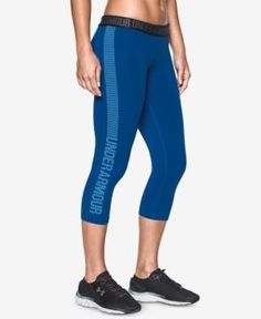 fe458fe2b88ee Under Armour Favorite Graphic Capri Leggings - Blue XL Capri Leggings