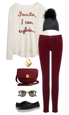 """""""Untitled #3246"""" by meandelstyle ❤ liked on Polyvore featuring AG Adriano Goldschmied, The Code, Vans, Inverni, RetroSuperFuture and Kenneth Jay Lane"""