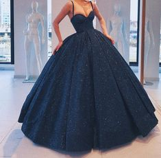 Gorgeous Sparkle navy Blue Sweet 16 Dress, Handmade Formal Gown, Junior Prom Dress - Source by agathaasasira Pretty Prom Dresses, Junior Prom Dresses, Elegant Dresses, Cute Dresses, Beautiful Dresses, Dresses For Sweet 16, Sweet 16 Outfits, Quince Dresses, Ball Dresses