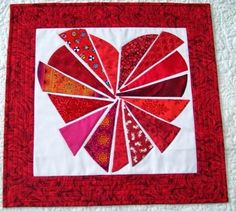 It is another snow/sew day today and I have a little of this and that to show you. Quilting Ideas, Quilting Designs, Quilt Patterns, Attic Window Quilts, Heart Quilts, Sweet Hearts, I Love Heart, Dresden Plate, Tablerunners