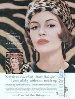 Cover Girl Matte MakeUp 1962 Ad Picture