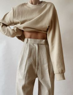 Pinterest Fashion Me Now, Fashion Outfits, Simple Outfits, Cute Outfits, Looks Style, My Style, Magazine Mode, Trouser Outfits, Beige