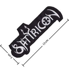 Satyricon Music Band Logo I Embroidered Iron on Patch