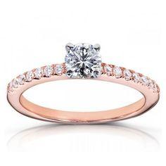 http://shineonyourdiamond.blogspot.com/ 1 Carat Engagement Rings Vintage Rose Gold 12