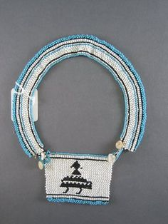 Unidentified Xhosa artist. Neck Ornament (Love Letter), 1930s - 1940s. Glass seed beads, fiber, 3 1/2 x 2 3/4 in. (8.9 x 7.0 cm). Brooklyn Museum, Gift of Mr. and Mrs. Lee Lorenz, 1996.202.13.
