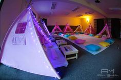 Sleepover Party - Indoor Tents with Lights! | CatchMyParty.com