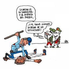 'Calor humano', viñeta de #AlenLauzán en DIARIO DE #CUBA #HUMOR