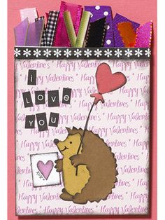 Use Scraps of Ribbon to Dress up a Paper-Pieced Card