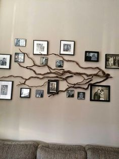 Family Tree Photo Wall check out these creative, artsy family tree wall decals as a way