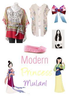 """Modern Princess Mulan!"" by jackie4101117 ❤ liked on Polyvore featuring Pull&Bear, Disney, Jennifer Lopez, H&M and modern"