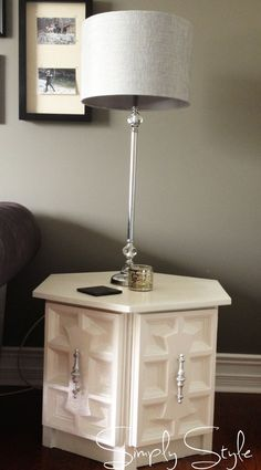 Simply Style Blog - Reduce, Reuse and Save Check out the $15 hexagon table makeover!