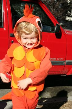Could totally be adapted for a running costume! DIY Nemo Fish Costume for Your Toddler - Mighty Girl Baby Costumes For Boys, Diy Baby Costumes, Easy Diy Costumes, Toddler Halloween Costumes, Boy Costumes, Halloween Kids, Costume Ideas, Halloween 2016, Halloween Stuff