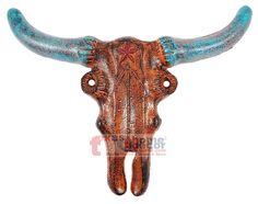 Roped Edge Longhorn Steer Head Copper Finish Western Replacement Belt Buckle