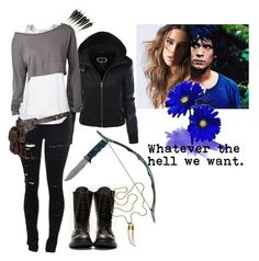 """""""Whatever the hell we want - The 100 - Bellamy Blake"""" by aliiceroseee ❤ liked on Polyvore featuring STELLA McCARTNEY, Rick Owens, Holster, Gerber, Trina Turk, TV, TheCW, the100, BellamyBlake and Bobbymorley"""