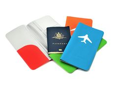 Silicon Passport Holder | TGI Found It. Cool gift idea for travellers :)