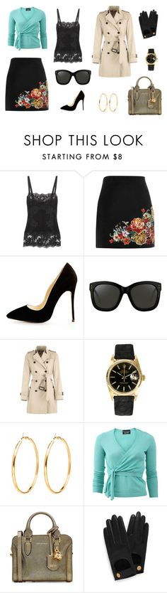 """another casual Friday"" by edith-a-giles ❤ liked on Polyvore featuring Dolce&Gabbana, River Island, Linda Farrow, Burberry, Rolex, Boutique Moschino, Alexander McQueen and Mulberry"