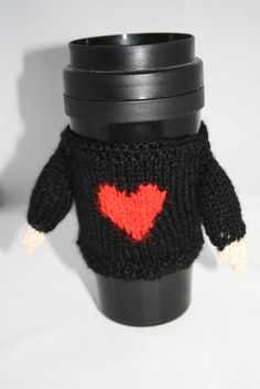 valentine sweater cup cuff reusable cup cuff by sweetygreetings, £2.80