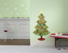 christmas tree calendar wall decal • weeDECOR • save 30% with promo code WDCYBER14  #smallbusinesssaturday #cybermonday