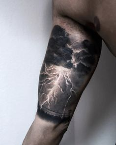 Badass thunderstorm tattoo by Paolo Murtas...