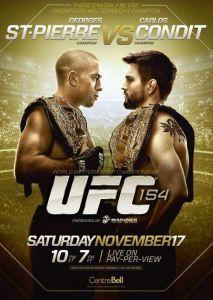 UFC 154 - Georges St Pierre contre Carlos Condit... Duel sanglant qui a vu GSP triompher, non sans quelques difficultés !