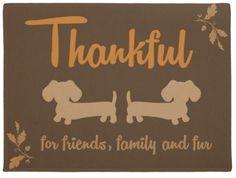 Thankful Autumn Dachshund Doormat - The Smoothe Store