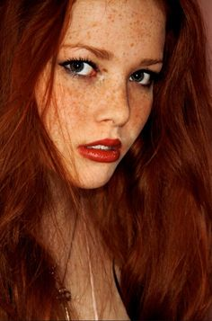 Freckles are so hot! #hot #face #redhead #ginger #red #lips