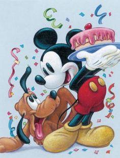 Mickey y pluto Disney Micky Maus, Walt Disney Mickey Mouse, Mickey Mouse And Friends, Mickey Mouse Birthday, Minnie Mouse, Disney Family, Disney Love, Disney Art, Disney Pixar