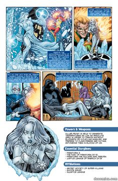 The Origin of Killer Frost on the DC Comics web site                                                                                                                                                                                 More