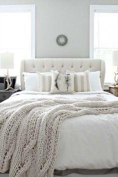 white farmhouse style bedroom