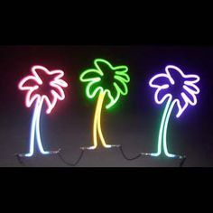 """neon battery operated centerpieces- palm tree 18"""" tall"""
