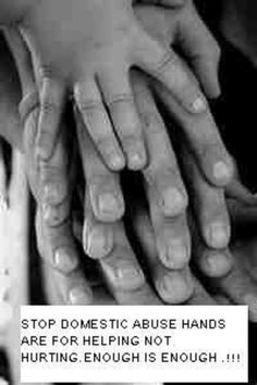 Hands are for helping...NOT HURTING!