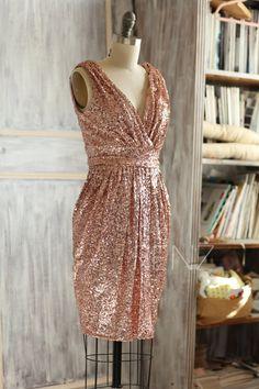 Metallic Gold Knee Length Dress