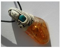 Citrine pendant / citrine jewelry / citrine necklace by Khayanite