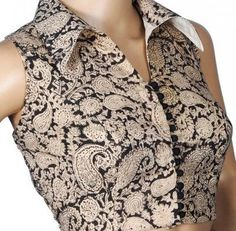Saree Blouse Neck Designs, Kurti Neck Designs, Fancy Blouse Designs, Kalamkari Blouse Designs, Stylish Blouse Design, Blouse Models, Designer Blouse Patterns, Beautiful Blouses, Jeans