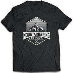 Mountaineering T-Shirt. Mountaineering tee present. by TeeDino