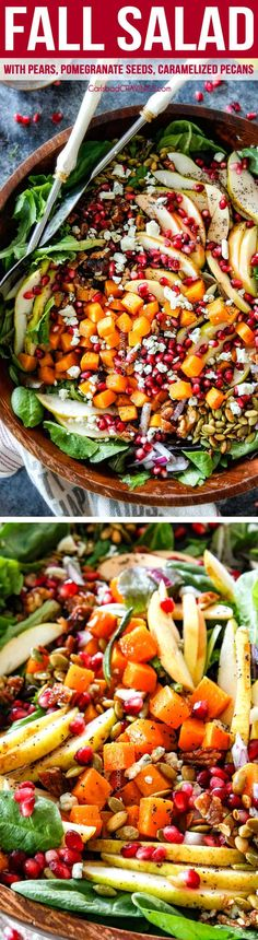 This Fall Salad is irresistibly delicious fresh vibrant satisfying and gorgeous for potlucks thanksgiving and Christmas Its loaded with apples p. Thanksgiving Recipes, Fall Recipes, Healthy Salads, Healthy Eating, Healthy Recipes, Carlsbad Cravings, Fall Salad, Gorgonzola Cheese, Chicken