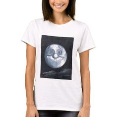 T-Shirt WHIMSICAL MOON Moon Face, Detail Shop, Custom Clothes, Wardrobe Staples, Colorful Shirts, Whimsical, Shop Now, Bring It On, Mens Tops