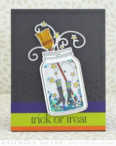 Trick of Treat Card by Nichole Heady for Papertrey Ink (August 2015)