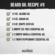 Looking for a good beard oil? We'll show you how to craft the perfect beard oil recipe from home, and show you step by step what you need to do! Diy Beard Oil, Best Beard Oil, Beard Oil And Balm, Beard Balm, Clary Sage Essential Oil, Vanilla Essential Oil, Cedarwood Essential Oil, Essential Oils, Beard Tips