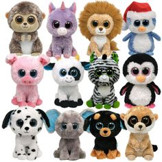 Top row: Spike, Rainbow, King, Fairbanks, 2nd row Corky, Daisy, Zig Zag, Paddles 3rd row: Fetch, Peanut, Tuffy, Rebel