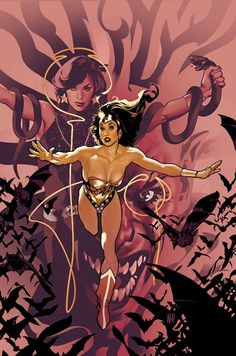 Wonder Woman by Adam Hughes. Donna Troy in the background.