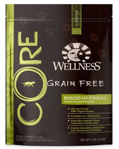 Wellness CORE Natural Reduced Fat Grain Free Dry Dog Food, Turkey and Chicken, 4-Pound Bag ** To view further, visit now (This is an amazon affiliate link. I may earn commission from it)