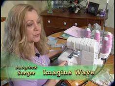 Serger Demo - seriously AMAZING!!!  wish i had  a self threading serger!      Also... serger crochet... I think i'll give that a try too! :)    and, i wonder if my serger has a differential feed - for making instant gathers without a gathering foot! :)