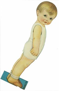 Miss Missy Paper Dolls: Bobby and Joan Description:vintage paper doll set Name: Bobby and Joan Date: 1928 Publisher: whitman Artist:Queen Holden Missing Missy, Paper Dolls Printable, Printable Art, How To Age Paper, Paper People, Label Paper, Vintage Paper Dolls, Baby Sister, Old Paper