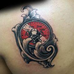 Shark Tattoos, Elephant Tattoos, Scuba Diver Tattoo, Diving Tattoo, Dove Tattoos, Body Art Tattoos, Tatoo Faith, Nautical Tattoo Sleeve, Dive Flag