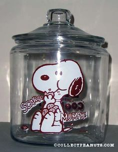 Snoopy eating Cookies Cookie Jar