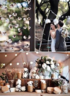 Crazy ways to use cotton as wedding decore...awesome